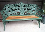 Image 2 - Coalbrookdale Fern and Blackberry Pattern Garden Bench