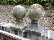 Image 1 - Pair of Vintage Stone Gate Pier Finials