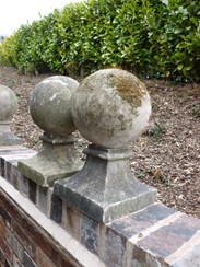 Image 2 - Pair of Vintage Stone Gate Pier Finials