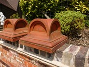 Image 2 - Pair of Antique Terracotta Gate Pier Cappings