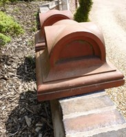 Image 4 - Pair of Antique Terracotta Gate Pier Cappings