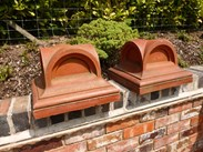 Image 5 - Pair of Antique Terracotta Gate Pier Cappings