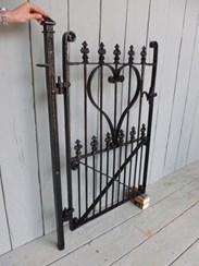 Image 3 - Antique Victorian Wrought Iron Pedestrian Gate and Post