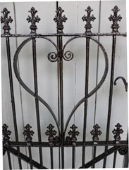Image 5 - Antique Victorian Wrought Iron Pedestrian Gate and Post