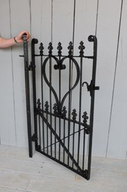 Image 7 - Antique Victorian Wrought Iron Pedestrian Gate and Post