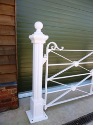 Image 1 - Antique Wrought Iron Estate Gate and Cast Iron Posts