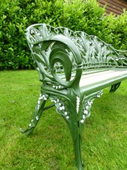 Image 1 - Antique Coalbrookdale Lilly of the Valley Garden Bench