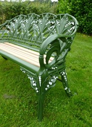 Image 2 - Antique Coalbrookdale Lilly of the Valley Garden Bench