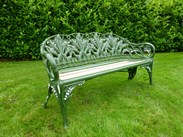Image 4 - Antique Coalbrookdale Lilly of the Valley Garden Bench