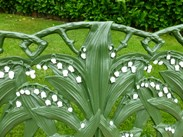 Image 5 - Antique Coalbrookdale Lilly of the Valley Garden Bench