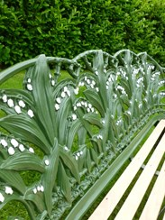 Image 6 - Antique Coalbrookdale Lilly of the Valley Garden Bench