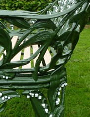 Image 8 - Antique Coalbrookdale Lilly of the Valley Garden Bench