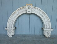 Image 1 - Magnificient Antique Arched Cast Iron Overdoor