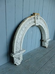 Image 8 - Magnificient Antique Arched Cast Iron Overdoor