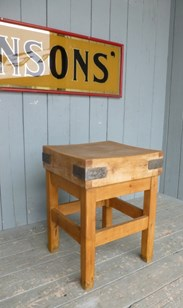 Image 5 - Antique Butchers Chopping Block