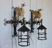 Image 1 - Wrought Iron Welsh Dragon Lights