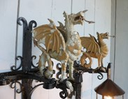 Image 2 - Wrought Iron Welsh Dragon Lights
