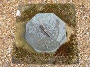 Image 2 - Vintage Hand Carved Stone Sundial