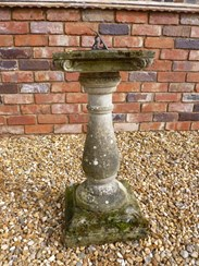 Image 5 - Vintage Hand Carved Stone Sundial