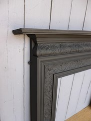Image 4 - Antique Coalbrookdale Cast Iron Fire Surround