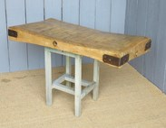 Antique Butchers Block Tops for kitchens from UKAA in Cannock Wood Staffordshire