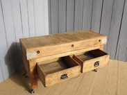 Antique butchers blocks are for sale at UKAA in Cannock Wood Staffordshire