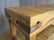 Image 6 - Antique Butchers Chopping Block with Shelf