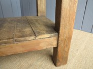 Image 7 - Antique Butchers Chopping Block with Shelf