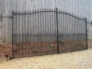 Substantial Pair of Reclaimed Antique Wrought Iron Entrance Gates