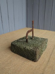 Image 3 - A Wrought Iron Boot Scraper on Stone Base