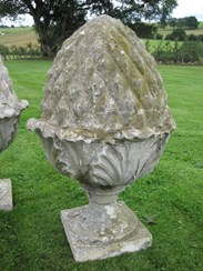 Image 2 - Pair Austin and Seeley composition stone pineapple finials