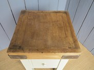 Close up of the butchers block top - sold here at UKAA in Cannock Wood