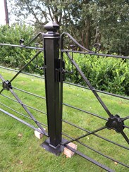 Antique Iron gates and posts to buy at UKAA