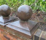 UKAA buy and sell reconstituted stone ball finials at our shop in Cannock Wood, Staffordshire