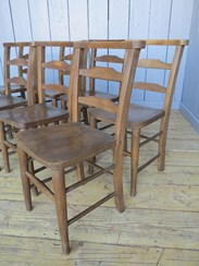 Set of 8 Antique Church Chairs from St Seps Church