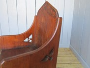 Showing the lovely worn patina of the antique pine tub chair