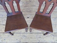 Showing the seats of the gothic hall chairs