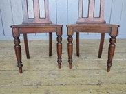 Showing the lovely turned legs of the gothic hall chairs