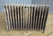Showing the other side of the reclaimed cast iron radiator - 6 columns deep and 17 sections long