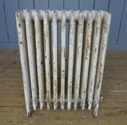 Showing the other side of the reclaimed cast iron radiator - 6 columns deep and 11 sections long