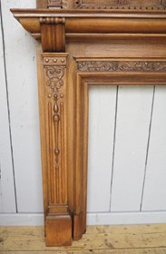 Image 4 - Hand Carved Victorian Oak Fire Surround
