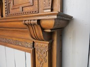 Showing the substantial solid oak detail of the victorian fire surround