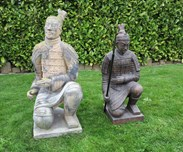 Showing next to the other Chinese Samurai statue which is for sale