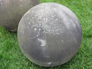 Image 2 - Pair of Antique Hand Carved Stone Balls