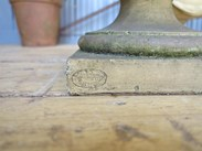 Showing the J Stiff and Sons makers mark of the Victorian Terracotta planters