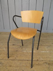 Vintage Tubular Steel Stacking Chairs