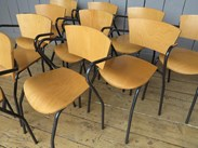 Vintage Tubular Steel Stacking Chairs in similar condition