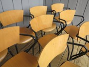 Image 7 - Vintage Tubular Steel Stacking Chairs