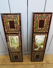 Hand Painted Victorian Wall Tile Panels