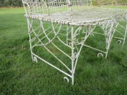 Gothic arch wirework detailing of the set of 3 gothic wirework benches